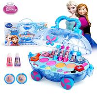 Disney 迪士尼 迪士尼玩具女孩儿童化妆品彩妆女孩礼物生日儿童节礼物口红指甲油化妆玩具 冰雪奇缘公主化妆车