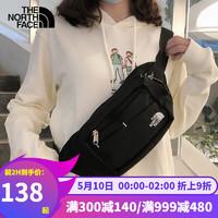 北面胸包新品通用款便捷实用坚固耐久腰包2UCX 黑色/275*150*70M