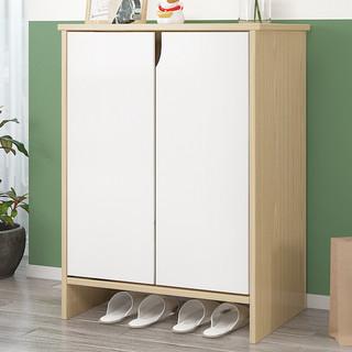 家乐铭品  CZ001P 多功能鞋柜 暖白拼色 2门 60*30*80cm