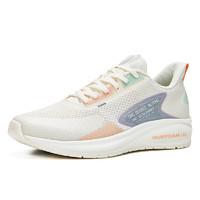 361度跑步鞋女鞋春季雨逸Q弹跑鞋网面运动鞋  POP 羽毛白/粉紫灰 36
