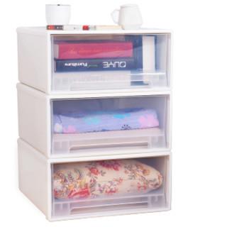 久梨沙  加厚收纳柜抽屉式收纳箱收纳盒衣物整理柜深47*宽44*高21