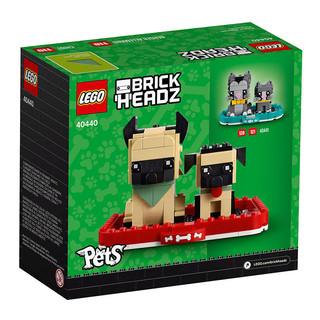 LEGO 乐高 LEGO乐高 积木方头仔系列40440德国牧羊犬小颗粒玩具