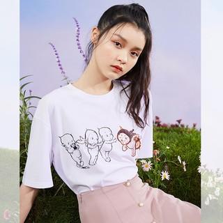 PEACEBIRD 太平鸟 ️ 丘比联名系列 A6DAA2652-373060 女款短袖T恤