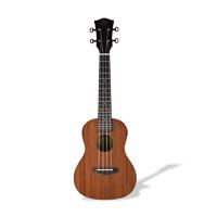 AUV V1初学者入门尤克里里ukulele V牌 弹唱乌克丽丽惟一初学小吉他乐器男女儿童成人 21寸桃花芯原声款