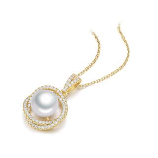 CHOW TAI SENG 周大生 周大生银吊坠925埃及遗珠系列珍珠吊坠