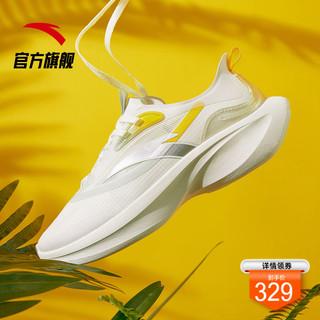 ANTA 安踏 安踏叶子跑鞋女2021夏季减震轻便厚底跑步运动鞋软底休闲专业透气
