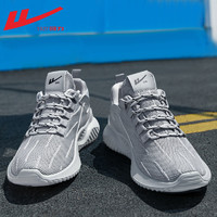 WARRIOR 回力 回力男鞋2021年新款潮鞋飞织网面透气鞋子男跑步鞋男夏季运动鞋男
