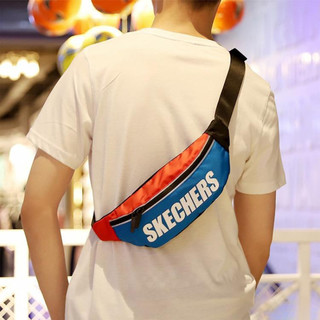 SKECHERS 斯凯奇 斯凯奇男女同款情侣款时尚腰包运动休闲单肩斜挎包