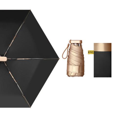 Le Bronte 朗特乐  超小14cm五折6骨便携式金胶晴雨伞
