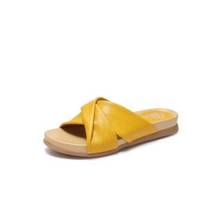 Bata 拔佳凉拖鞋平跟时尚外穿休闲皮拖鞋