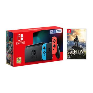 Nintendo 任天堂 国行 Switch主机 续航增强版+《塞尔达传说 荒野之息》