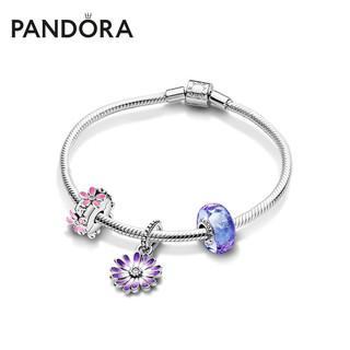 PANDORA 潘多拉 Pandora潘多拉925银花园系列浪漫雏菊手链套装ZT1249送女友礼物 20cm