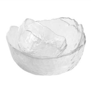 法兰晶 日式锤纹玻璃碗 3件套