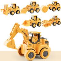 儿童玩具按压工程车仿真迷你惯性回力推土挖掘机小汽车玩具