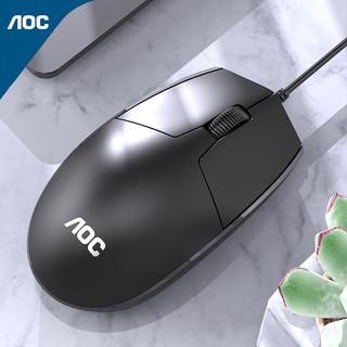 AOC 冠捷 AOC MS100鼠标 有线 笔记本电脑鼠标 黑色