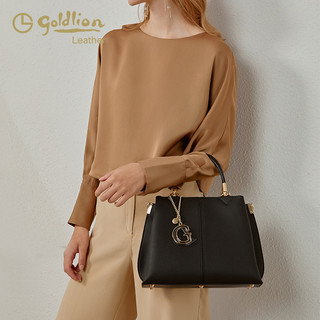 goldlion 金利来 金利来女包2021春夏新款单肩斜挎真皮手拎手提包大容量女式包包潮