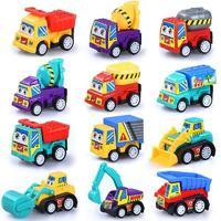 abay 寶寶玩具車慣性回力小汽車兒童玩具男孩工程車跑車