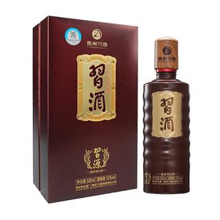 XIJIU 习酒 贵州茅台集团习酒 习源500ml单瓶装 53度酱香型白酒