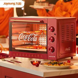 Joyoung 九阳 九阳 Joyoung 可口可乐联名款家用多功能专业32升大容量烘焙电烤箱精准控温专业烘焙烘烤蛋糕饼干 KX32-J95XC