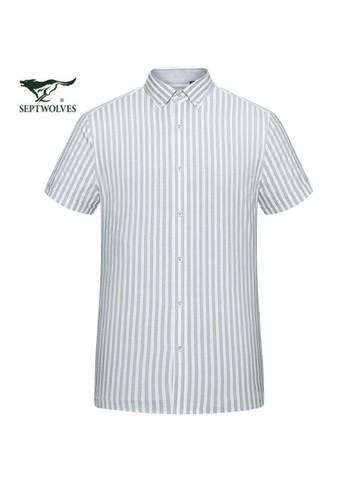 SEPTWOLVES 七匹狼 七匹狼衬衫男短袖夏季薄款男士衬衣商务休闲职业装寸衫上衣服