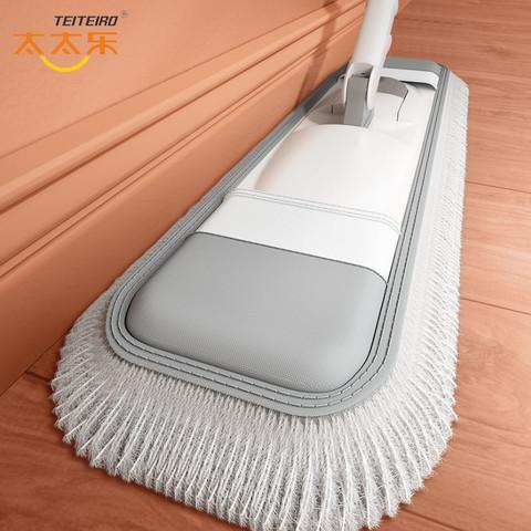 太太乐大号拖把干湿两用拖布木地板棉线尘推旋转免手洗平拖把墩布
