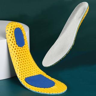 3AnGnI 运动鞋垫男女柔软透气吸汗减震篮球跑步2双装43码