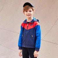 NIKE 耐克 男小童款 拼色防风连帽长袖运动休闲外套