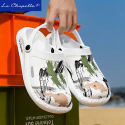 La Chapelle+洞洞鞋2021夏季新款拖鞋软底男士透气沙滩鞋休闲凉鞋