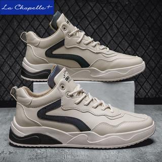 La Chapelle+低帮休闲运动鞋新款百搭小白鞋韩版潮流男款板鞋春秋