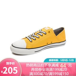 PONY帆布鞋波尼男女运动鞋2020年夏季潮流糖果色低帮休闲鞋02M1SH03 黄色(女) 38