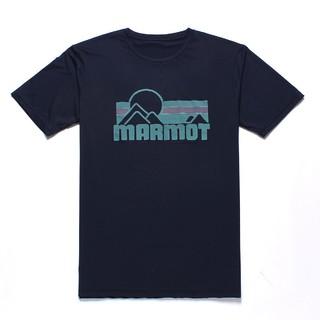 Marmot 土拨鼠 土拨鼠运动休闲棉感速干短袖男式T恤