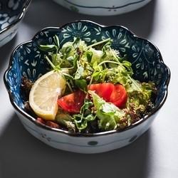 miske 日式陶瓷餐具釉下彩水果沙拉碗