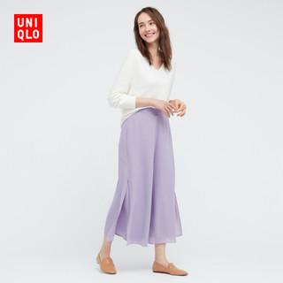 UNIQLO 优衣库 优衣库 女装 雪纺侧开叉裙裤(半身裙) 438099 UNIQLO