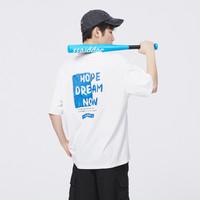 Semir 森马 2021年夏季新款宽松圆领时尚个性字母图案韩版套头短袖T恤男