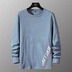 ROMON 罗蒙 春季新品首发圆领套头印花时尚男士t恤长袖T恤男