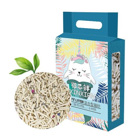 鄂芯鲜  豆腐砂混合猫砂自营无尘结团植物猫砂2.5kg