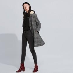 Levi's 李维斯 李维斯女士母亲节毛领翻领格纹毛呢大衣外套