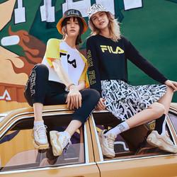 FILA 斐乐 斐乐FUSION系列女鞋运动休闲鞋舒适时尚潮流防滑女式复古篮球鞋