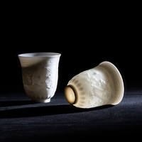 xigu 熹谷 白瓷 羊脂玉龙凤主人杯陶瓷茶杯