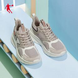 QIAODAN 乔丹 乔丹运动鞋男鞋2021夏季新款跑鞋减震正品休闲鞋子男耐磨跑步鞋男