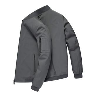ROMON 罗蒙 罗蒙春季新品纯色棒球领外套男休闲时尚通勤百搭男士夹克