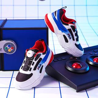FILA 斐乐 中大童(33-40)男童鞋女童鞋21年新品低帮儿童休闲运动鞋
