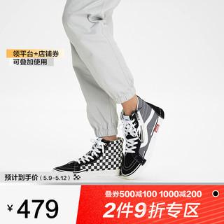 VANS 范斯 VANS万斯男鞋女鞋SK8-Hi棋盘格解构经典板鞋高帮帆布鞋情侣休闲鞋topsports VN0A3WM1603 41