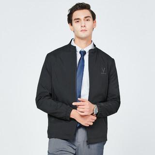 ROMON 罗蒙 春季新款纯色压花小立领外套男商务通勤休闲时尚男士夹克