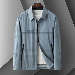 ROMON 罗蒙 春季新款夹克外套男休闲商务风翻领时尚男士夹克