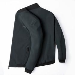 ROMON 罗蒙 罗蒙新品首发纯色印花棒球领外套男休闲时尚男士夹克