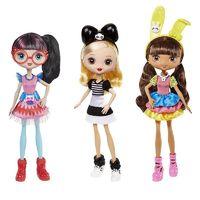 Barbie 芭比 酷酷原宿时尚巨星娃娃动物主题装 FLF71 单件装款式随机发