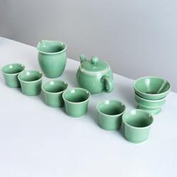 xigu 熹谷 龙泉青瓷  10件套茶具套装 梅子青