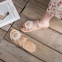SHIZHIHUA 诗织画 女士小雏菊平底凉鞋 3色可选 35-40