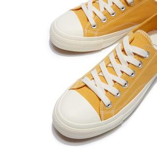 hotwind 热风 新款系带圆头平跟纯色日韩深口低帮帆布鞋休闲鞋男士